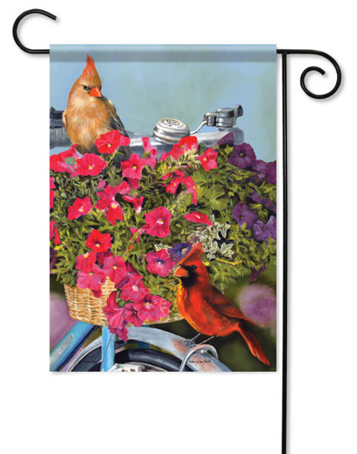 "Cardinal & Bike Garden Flag - 13"" x 18"""
