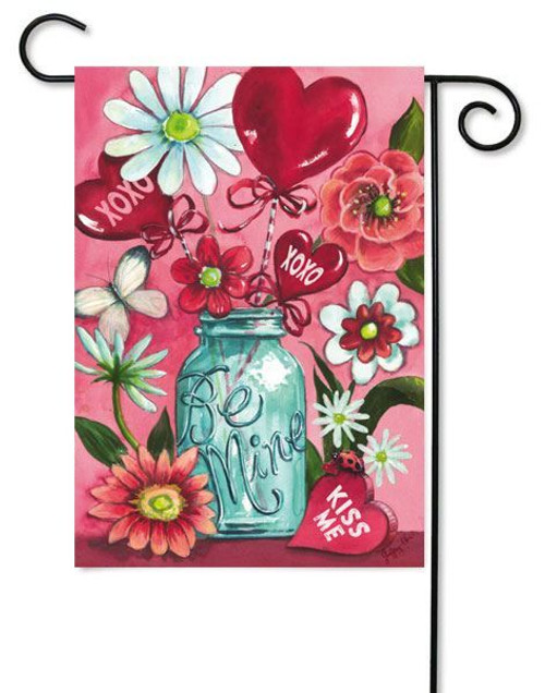"Valentine XOXO Garden - 12.5"" x 18"" 2 Sided Message"