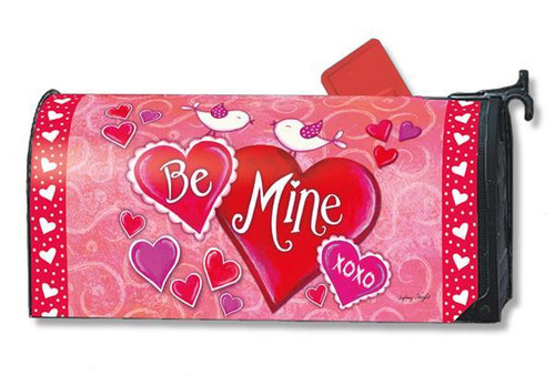 Be Mine Birds Magnetic Mailbox Cover