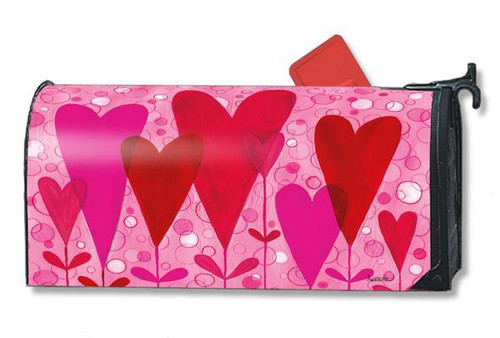 Heart Flowers Magnetic Mailbox Cover