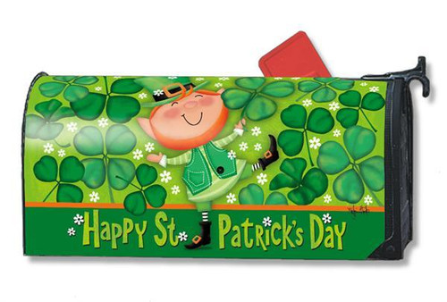 Happy St. Patrick's Day Mailwraps Mailbox Cover