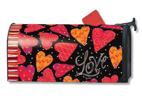 Love Hearts Magnetic Mailbox Cover