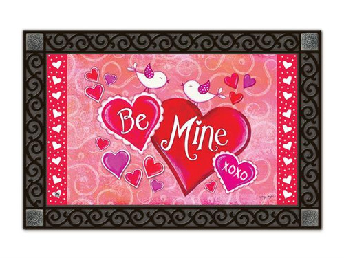 Be Mine Birds MatMates Doormat