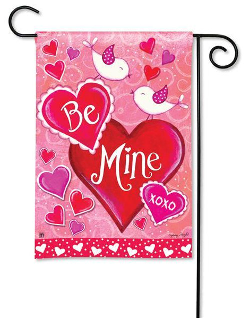 "Be Mine Birds Valentine Garden Flag - 12.5"" x 18"""