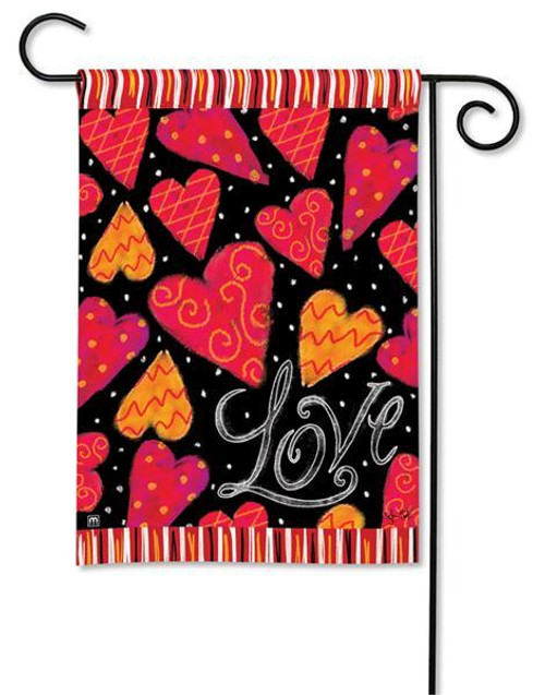 "Love Hearts Valentine Garden Flag - 12.5"" x 18"""
