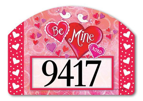 Be Mine Birds Yard Design Address Sign