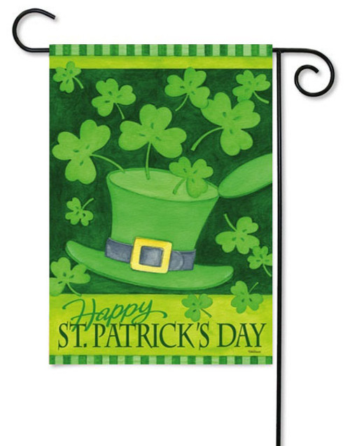 "Hats & Shamrocks Garden Flag 12.5"" x 18"" - 2 Sided Message"