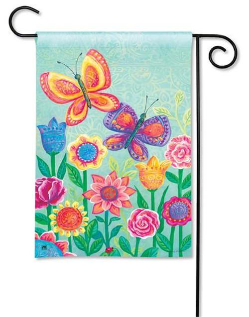 """Butterfly Garden Garden Flag - 12.5"""" x 18"""""""