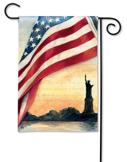 "Liberty at Sunset Patriotic Garden Flag - 12.5"" x 18"""