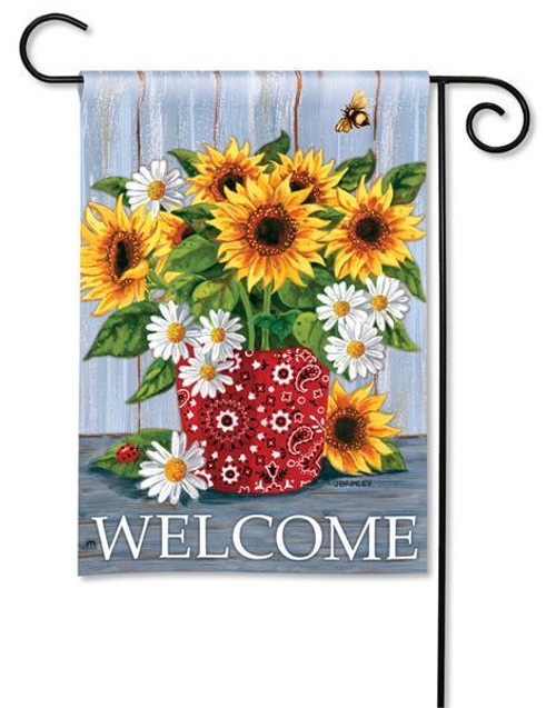 "Bandana Sunflowers Garden Flag - 12.5"" x 18"""