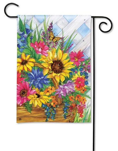 "Blooming Basket Garden Flag - 12.5"" x 18"""