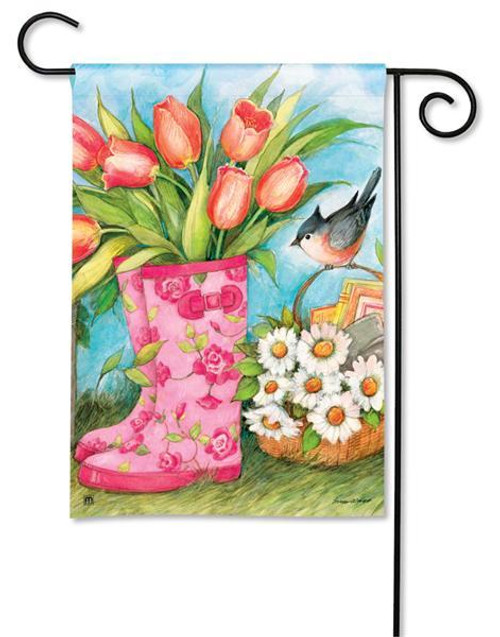 """Garden Boots Spring Garden Flag - 12.5"""" x 18"""""""