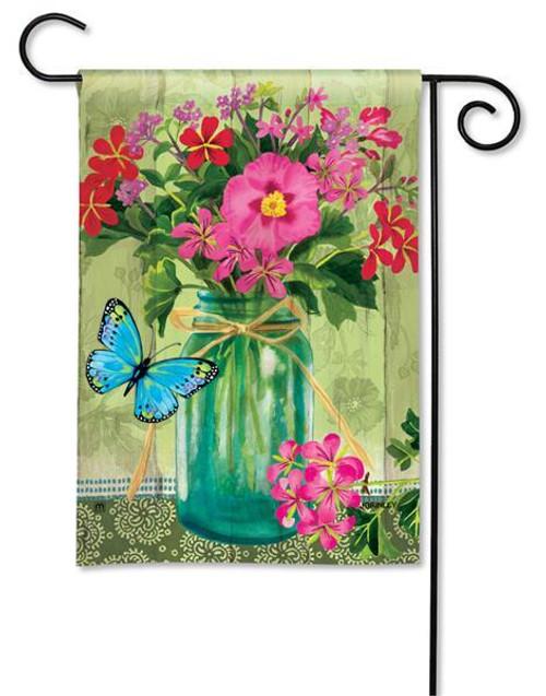 "Mason Jar Bouquet Garden Flag - 12.5"" x 18"""