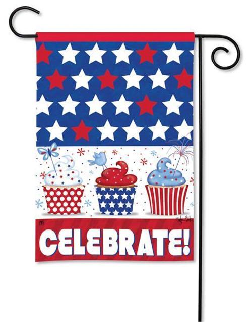 """Patriotic Cupcakes Patriotic Garden Flag - 12.5"""" x 18"""""""