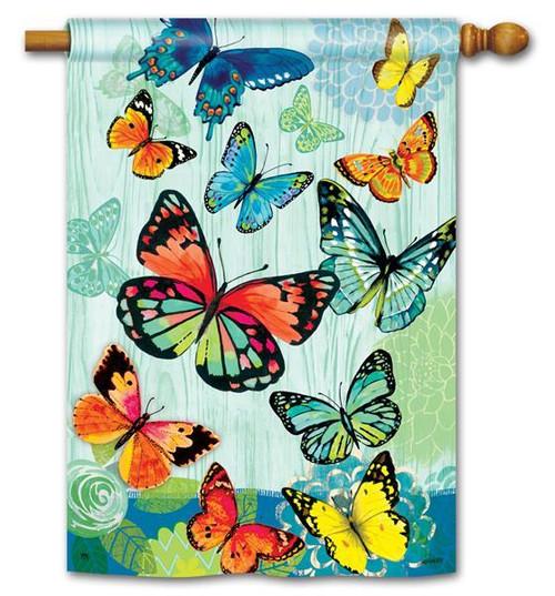 "Butterfly Flight House Flag - 28"" x 40"""