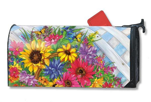 Blooming Basket Magnetic Mailbox Cover