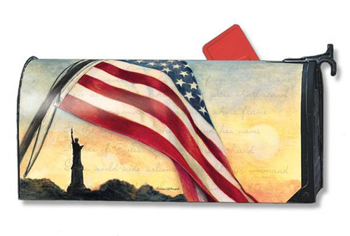 Liberty at Sunset Magnetic Mailbox Cover