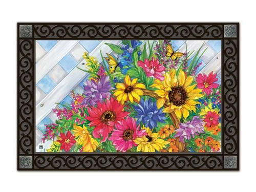 "Blooming Basket MatMates Doormat - 18"" x 30"""