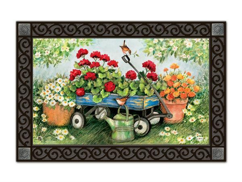 "Geraniums by the Dozen MatMates Doormat - 18"" x 30"""