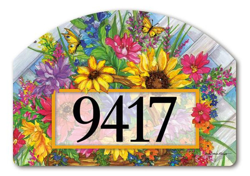 Yard Design Address Sign