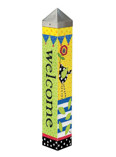 "Frolic Welcome Art Pole 20"" Tall - Studio M"