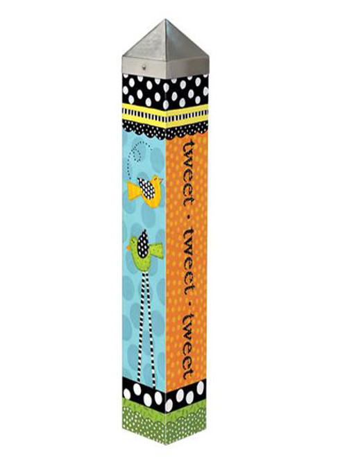 "Frolic Tweet Garden Art Pole 20"" Tall - Studio M"