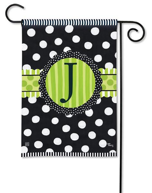 Monogram Garden Flag - Letter J