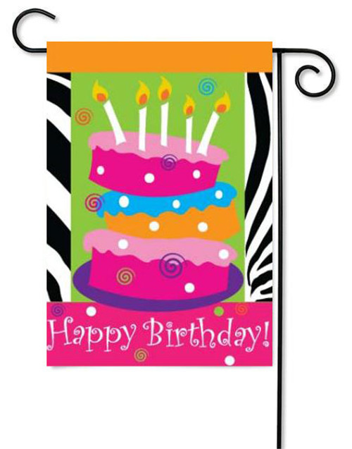 "Happy Birthday Applique Garden Flag - 13"" x 18"""