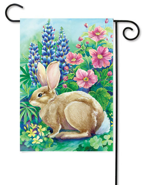 "Garden Rabbit Garden Flag - 12"" x 18"""