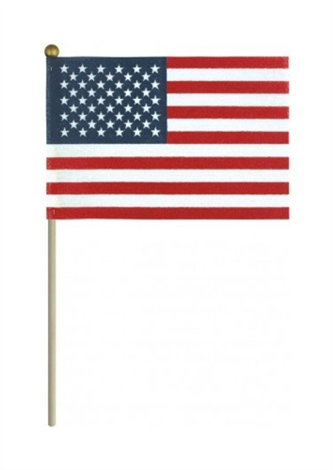 "USA Stick Flags 4"" x 6"" with Gold Ball"