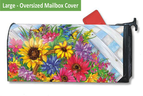 Large Oversized Mailwraps Mailbox Cover - Blooming Basket