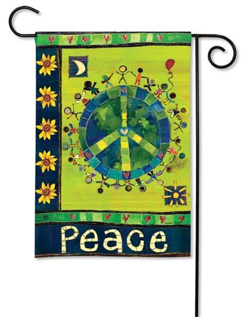 "Enter in Peace Garden Flag - BreezeArt - 12.5"" x 18"""
