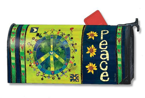 Enter in Peace Magnetic Mailbox Cover