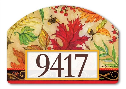"Blaze of Glory Yard DeSign Address Sign - 14"" x 10"""
