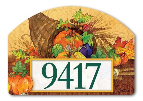 "Bountiful Harvest Yard DeSign Address Sign - 14"" 10"""