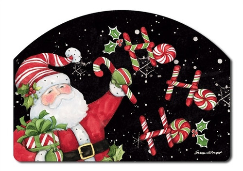 "Candy Cane Santa Yard DeSign Yard Sign - 14"" x 10"""