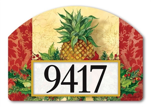 "Christmas Pineapple Yard DeSign Address Sign - 14"" x 10"""