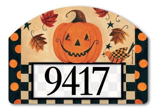 "Country Pumpkin Yard DeSign Address Sign - 14"" x 10"""