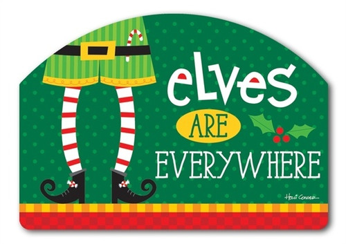 "Elf is Watching Yard DeSign Yard Sign - 14"" x 10"""