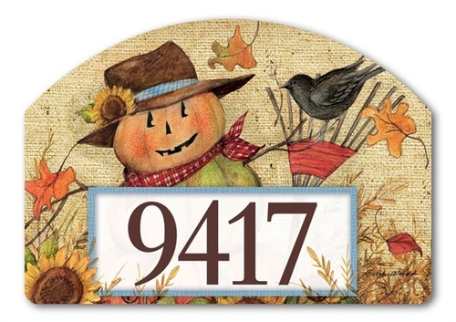 "Fall Friends Yard DeSign Address Sign - 14"" x 10"""