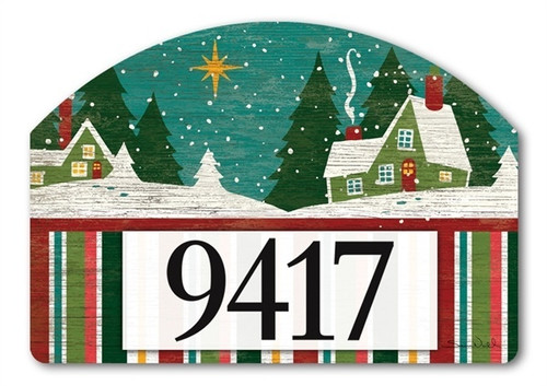 "Home for Christmas Yard DeSign Address Sign - 14"" x 10"""