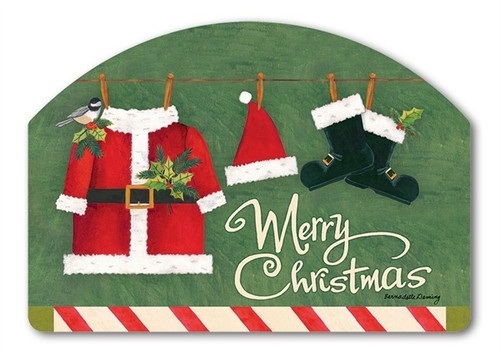 "Santa Suit Yard DeSign Yard Sign - 14"" x 10"""