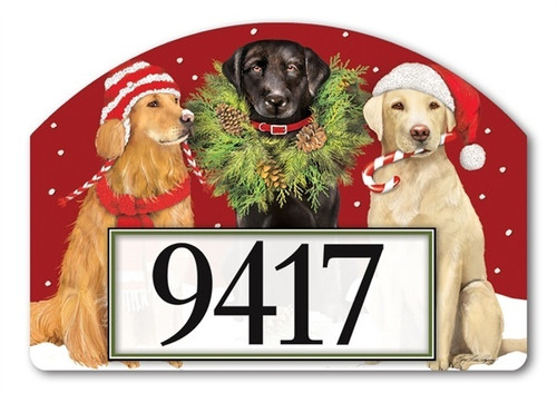 "Santa's Helper Yard DeSign Address Sign - 14"" x 10"""