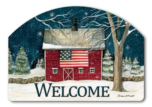 "Winter Barn Yard DeSign Yard Sign - 14"" x 10"""