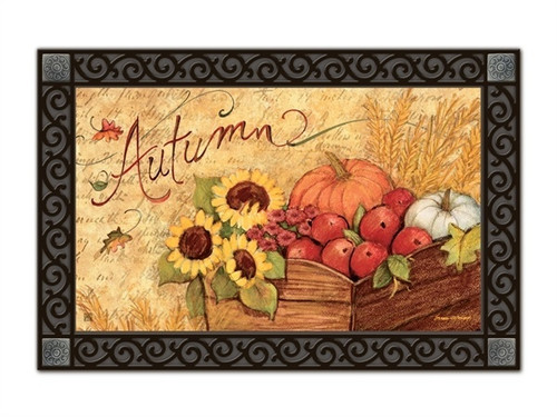 "Autumn Cart MatMates Doormat - 18"" x 30"""