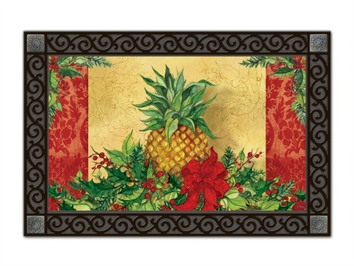 "Christmas Pineapple MatMates Doormat - 18"" x 30"""