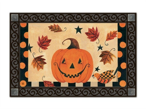 "Country Pumpkin MatMates Doormat - 18"" x 30"""