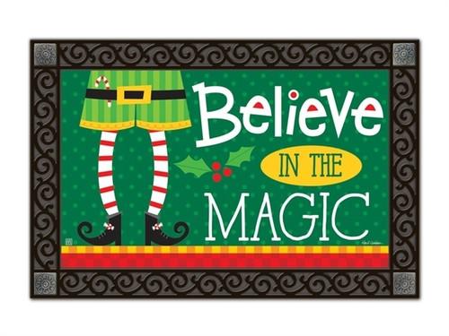 """Elf is Watching MatMates Doormat - 18"""" x 30"""""""