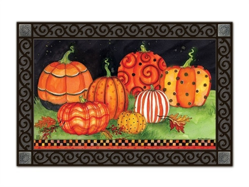 "Painted Pumpkins MatMates Doormat - 18"" x 30"""
