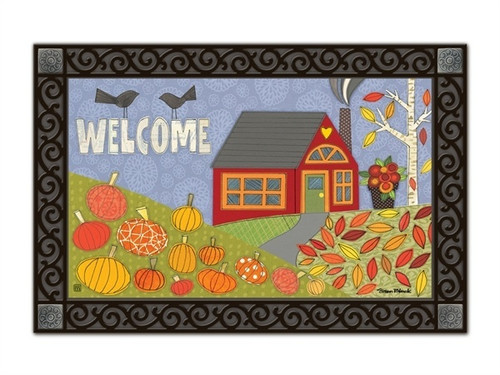 "Pumpkin Patch MatMates Doormat - 18"" x 30"""